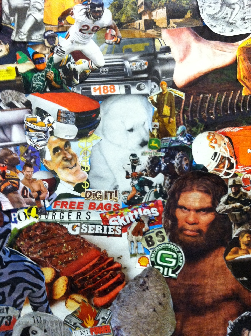 Weird Collage My Students And I Are Doing As A Work In